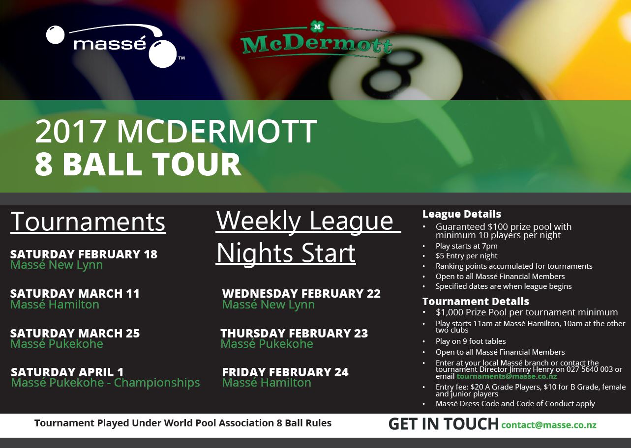 McDermott 8 Ball Tour