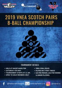 2019 VNEA SCOTCH PAIRS 8-BALL CHAMPIONSHIP - Massé Hamilton